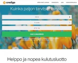 Credigo on taatusti selkeä luotto ja siitä on turha tinkiä