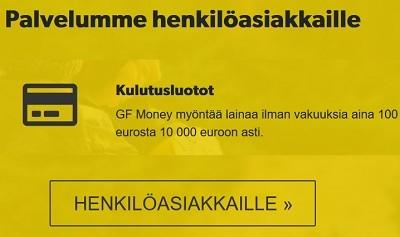 GF Money kokemuksia voi kehua suoraan sanoen