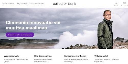Varmista, että saat edullisen lainan Collector Bank AB -palvelusta!
