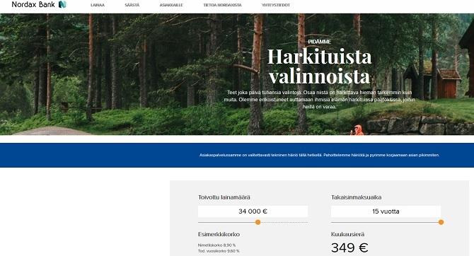 Nordax Bank laina on korko- ja kuluttajaystävällinen pankkilaina netissä