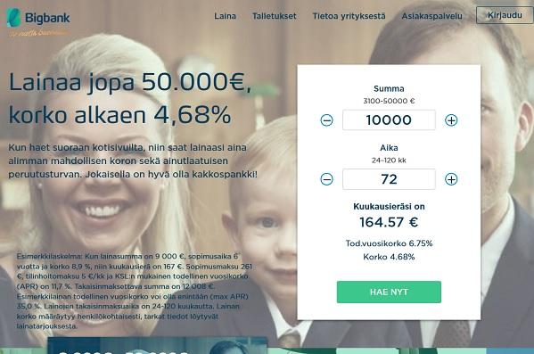 BigBank 10 vuoden kokemus ja luotto sen kun edullistuu